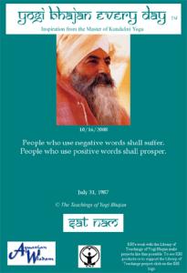 Frase de Yogi Bhajan