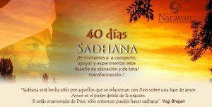 40 días sadhana afiche