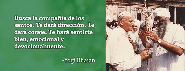 Juan Pablo Segundo con Yogi Bhajan