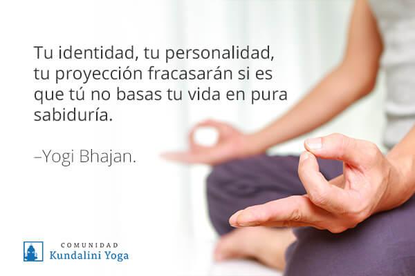 frase de yogi bhajan sobre la sabiduría