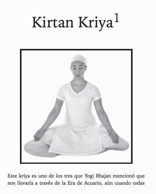 Kirtan Kriya en ebook Transformación Volumen uno.