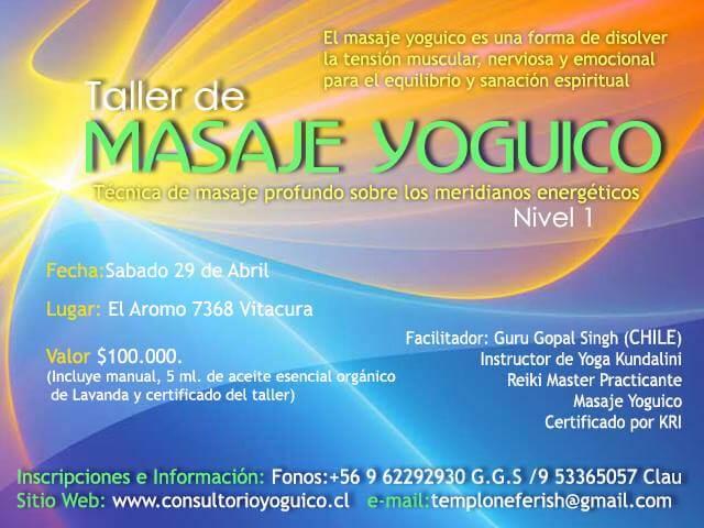 taller masaje yoguico