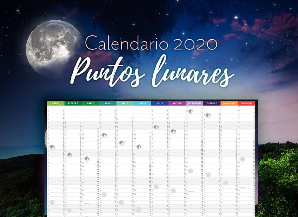 Muestra de Calendario Anual Puntos Lunares 2020