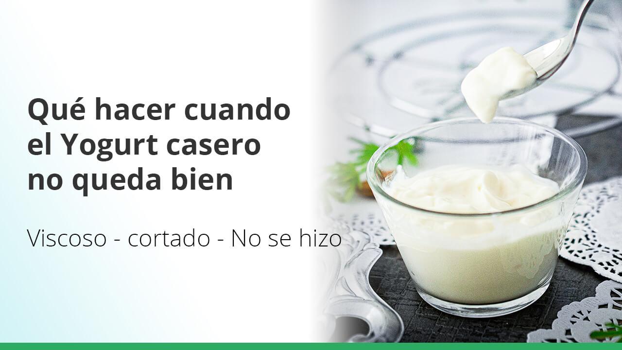 Qué hacer cuando el yogurt casero no te queda bien